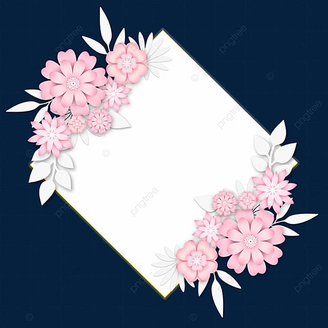 paper cut floral rhombus wedding border