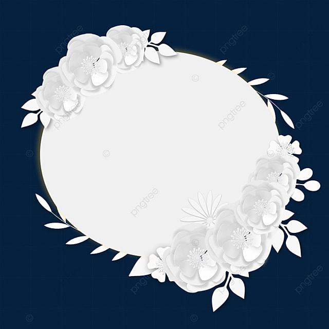 paper cut floral round wedding border
