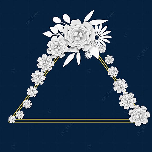 paper cut floral triangle wedding border