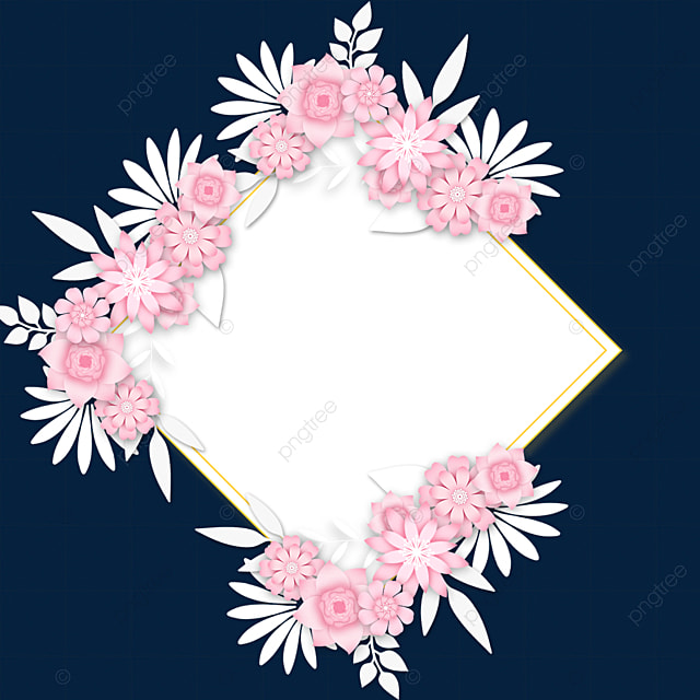 paper cut floral wedding border