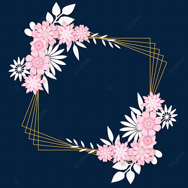 paper cut floral wedding multi line border