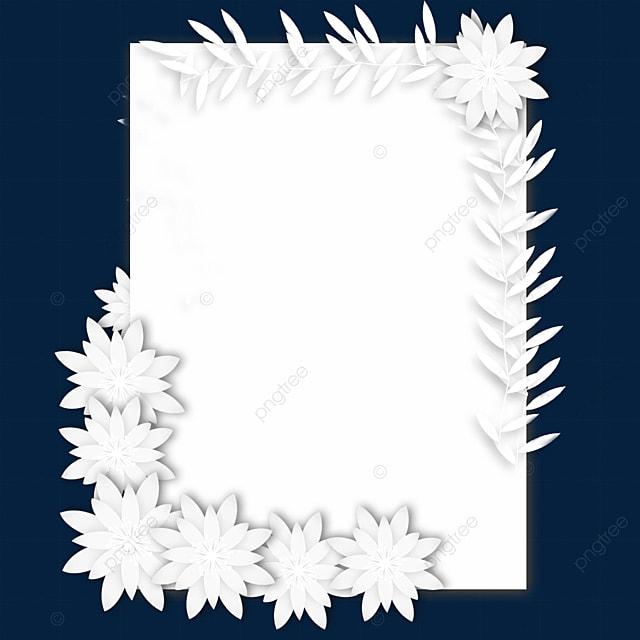 paper cut floral wedding rectangular border