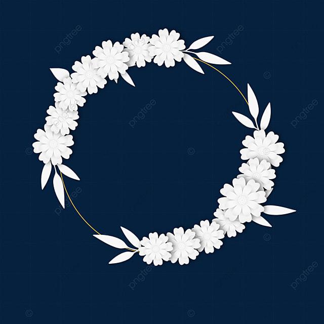paper cut floral wedding white border