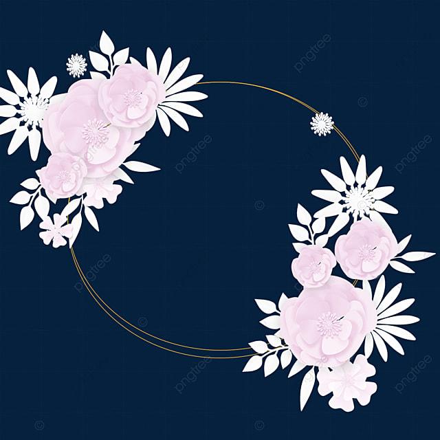 paper cut flowers simple wedding border