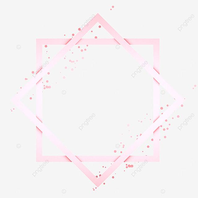 quadrilateral metal rose gold border