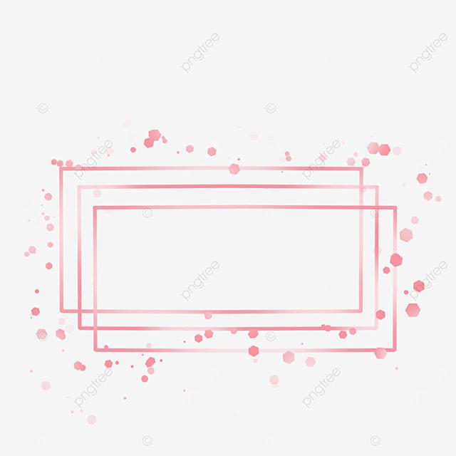 rectangular metal texture rose gold border
