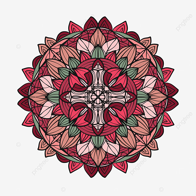 red mandala ornament abstract texture