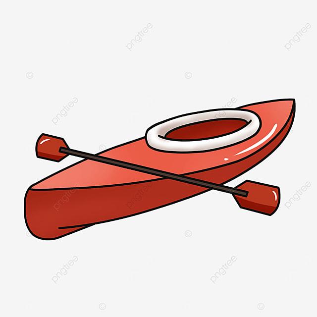 red single kayak clip art