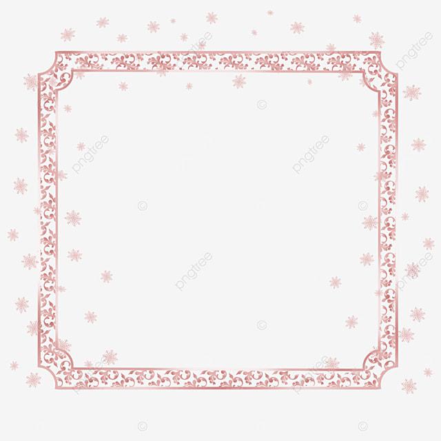 rose gold metal texture border