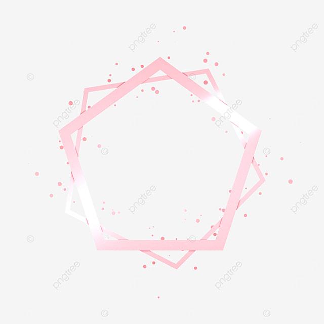 rose gold pentagonal metal frame