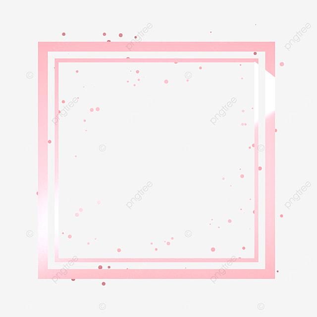 rose gold square metal frame