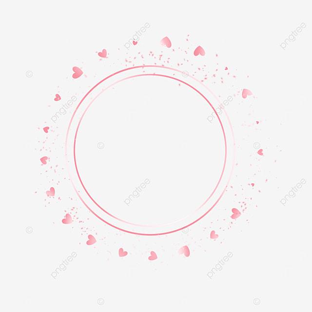 round love metal rose gold border