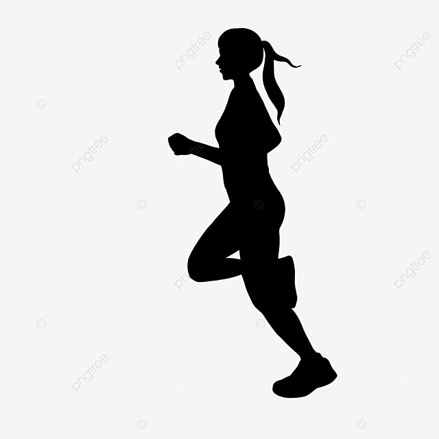 running man black clipart