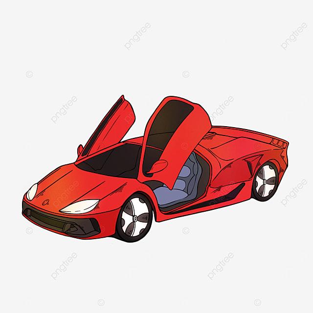 sports car clipart cartoon red sports car