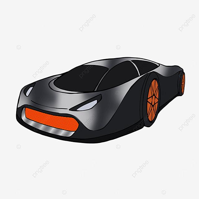 sports car clipart cartoon style black