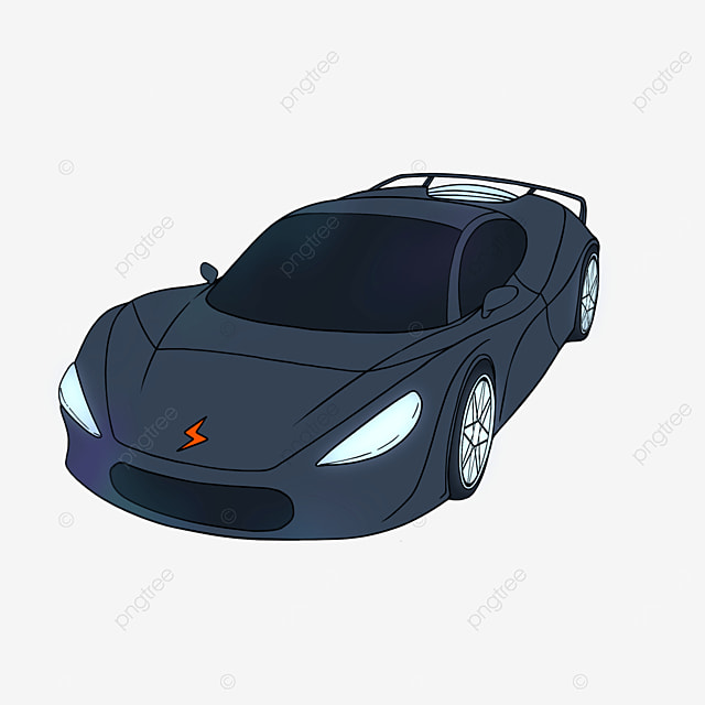 sports car clipart cartoon style car black