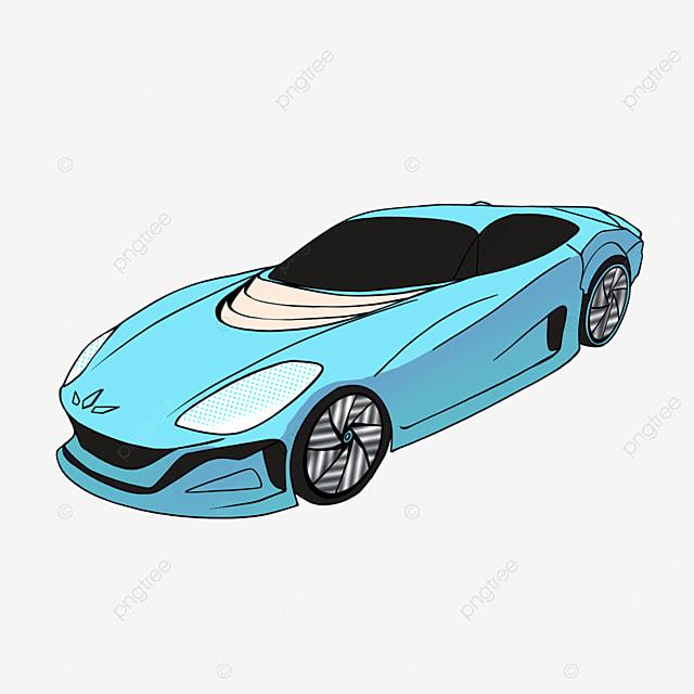 sports car clipart cartoon style