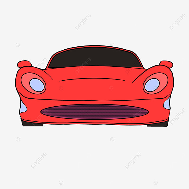sports car clipart cartoon style red