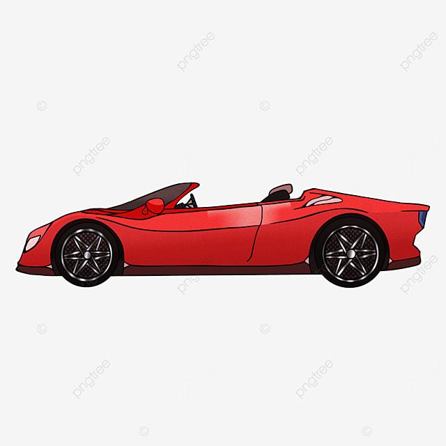 sports car clipart cartoon transportation red