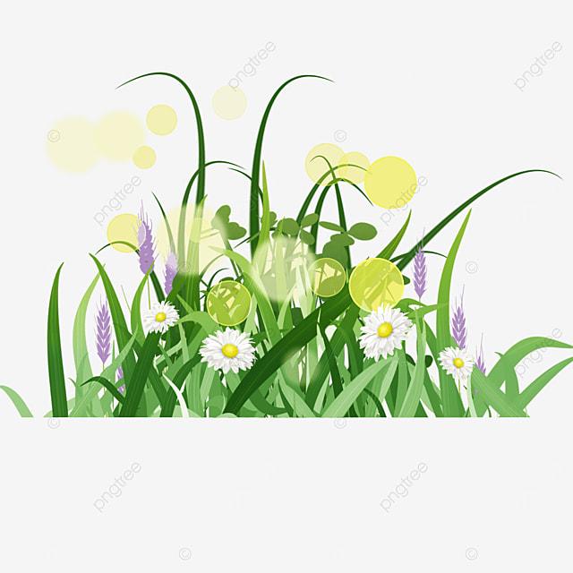 spring easter green grass lavender illustration