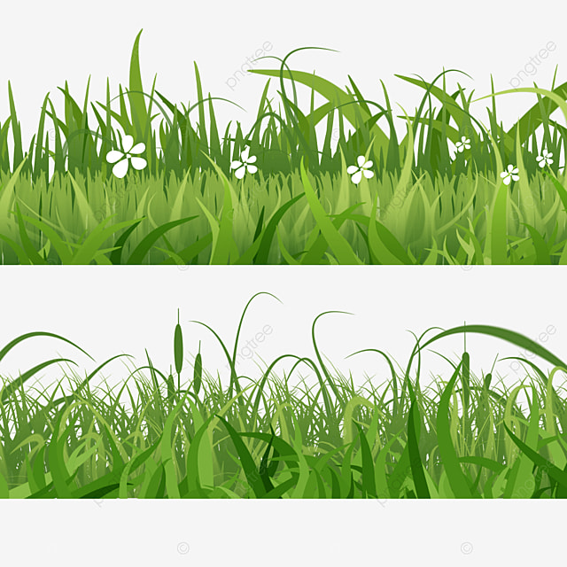 spring easter green grass realistic layered grass