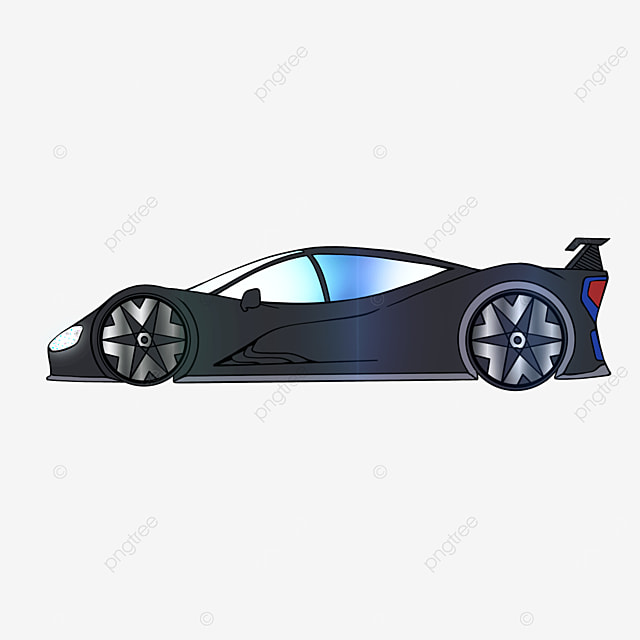 streamlined sports car clipart cartoon style