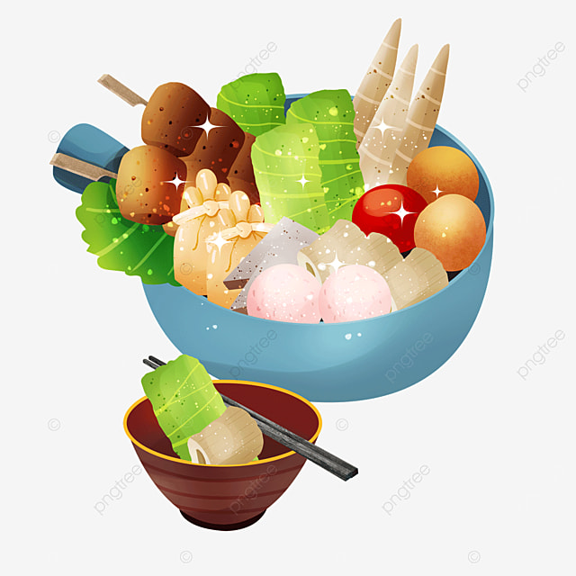 vegetable small bowl bamboo shoots delicious hot pot japanese oden