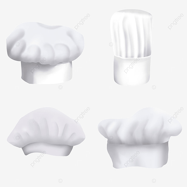 white chef hat combination of different shapes
