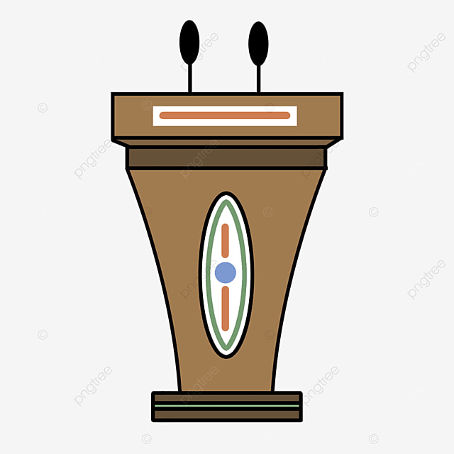 wood color podium clipart