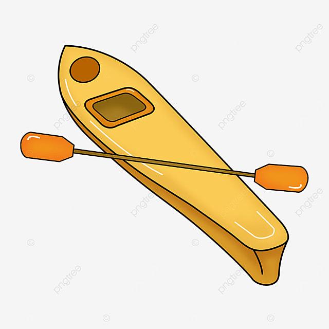 yellow kayak clip art