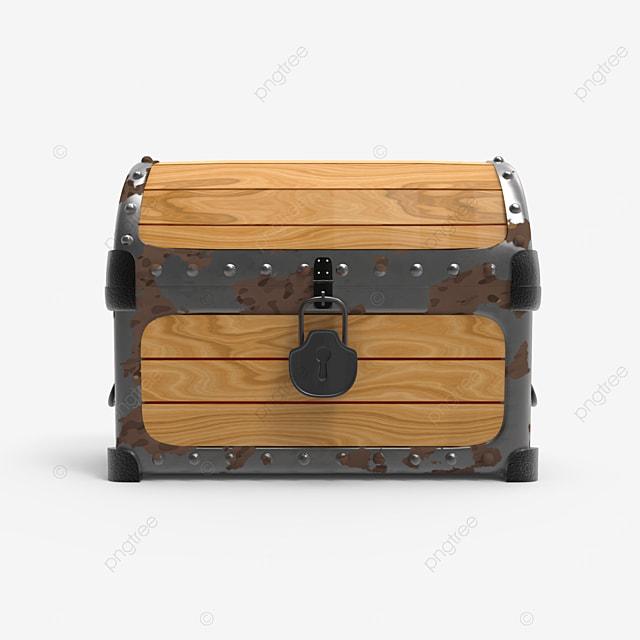old rusty closed treasure chest