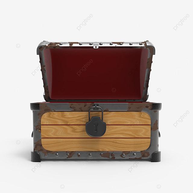 old rusty empty treasure chest