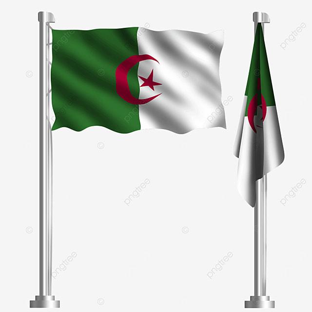 african oil waving algeria flag
