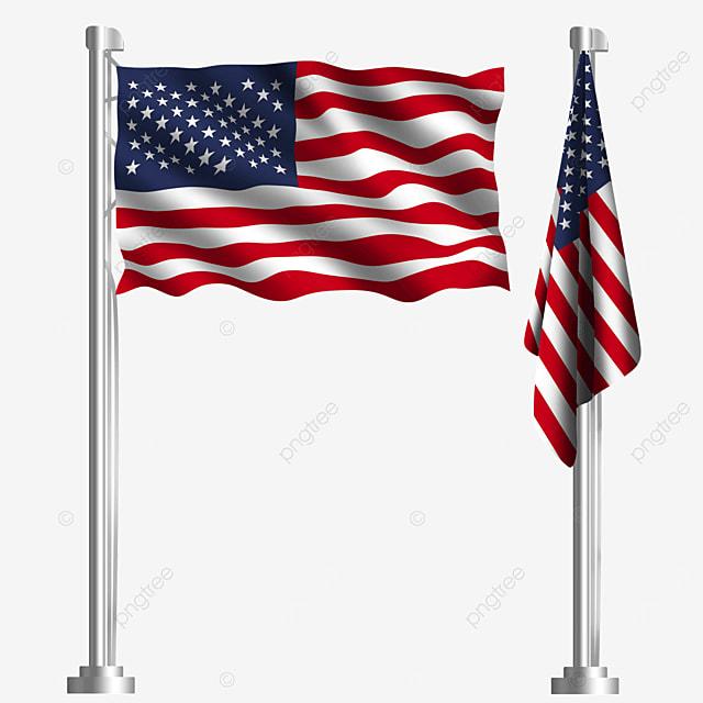 american flag waving in north america