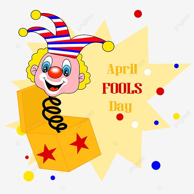 april fools day cartoon clown toy box