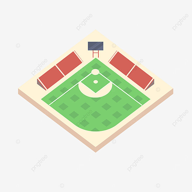 baseball field and auditorium clipart