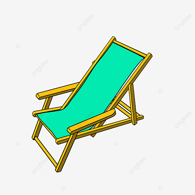 beach chair for rest by the sea clipart