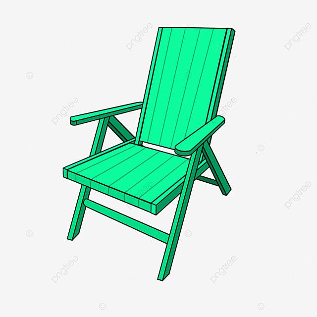 beach deck chair clip art