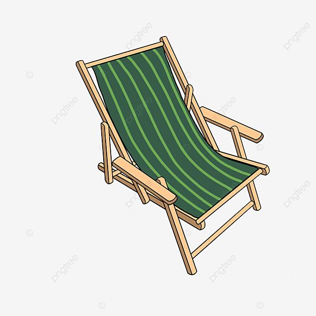 beach folding beach chair clip art