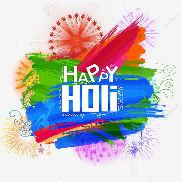 beautiful happy holi border