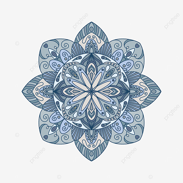 blue and white mandala ornament abstract texture