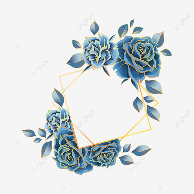 blue rose wedding border