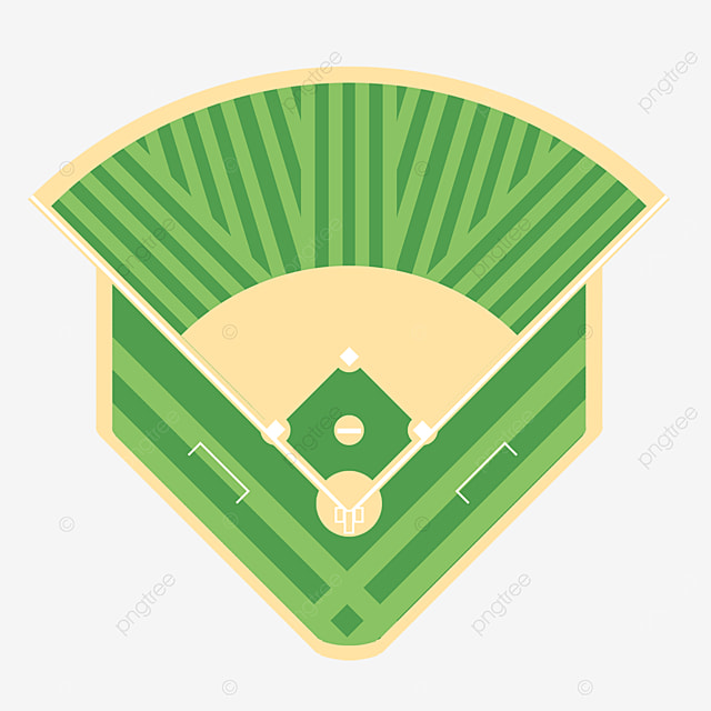 cartoon baseball field batting clipart
