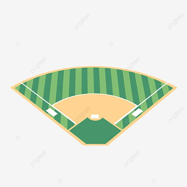 cartoon baseball field isometric clipart