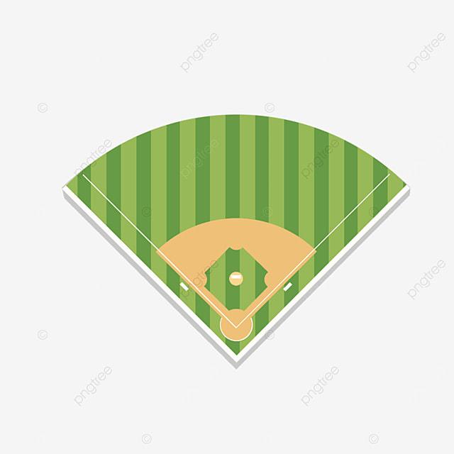 cartoon batting baseball field clipart