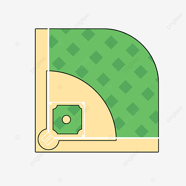 cartoon flat baseball field clipart