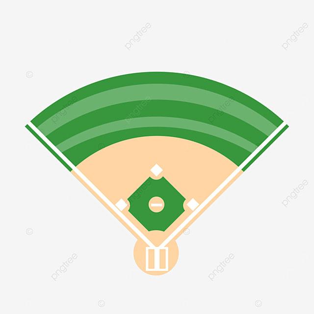 cartoon green baseball field clipart