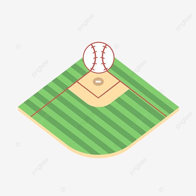 cartoon green texture baseball field clipart