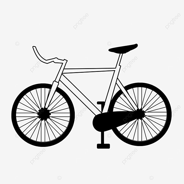 cartoon lineart pedal exercise bike clipart black and white