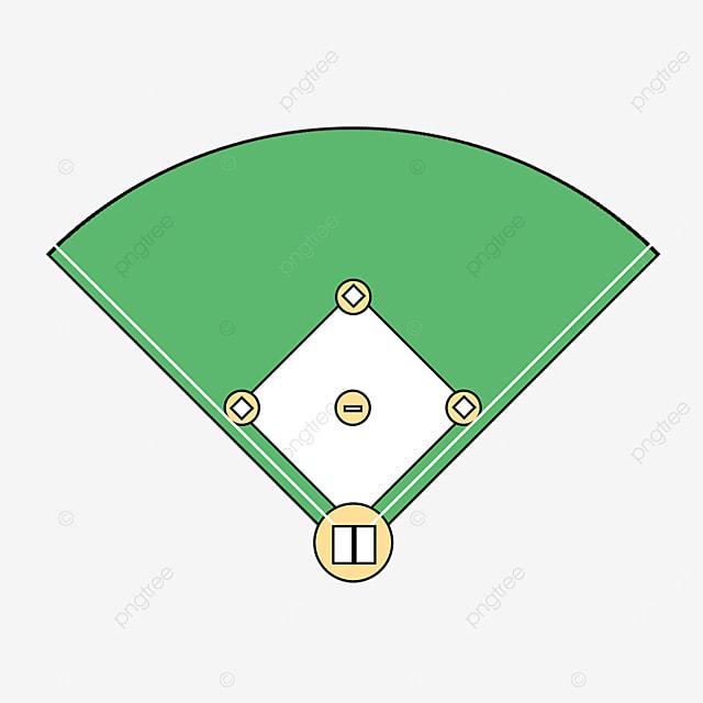 cartoon top view baseball field clipart